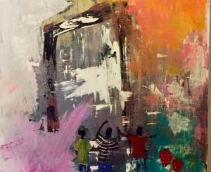 Didovic_Innocence behind ruins_Acrylic on canvas_36 x 48